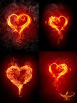 火焰浪漫心型