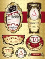 欧式酒瓶标贴