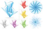纸花图形折纸