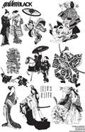 日本人物矢量图