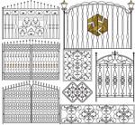 花纹式铁门围墙