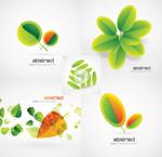绿叶创意背景