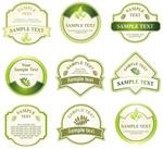 绿色标签标贴