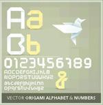 折纸效果字体