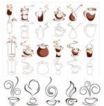 抽象咖啡图形