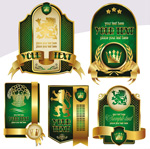 金色皇冠标签