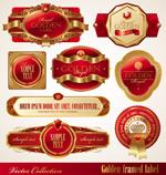 金框红色标签