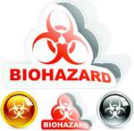 HN1病毒标志贴纸