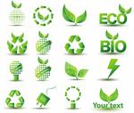 绿色环保节能图标