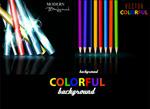 彩色立体铅笔海报
