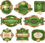欧式花纹标签