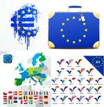 欧盟成员国旗图标