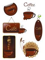 咖啡标签矢量