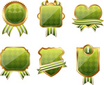 精致绿色徽章