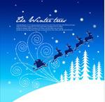 风雪圣诞节夜晚