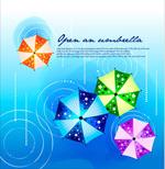 印花雨伞海报