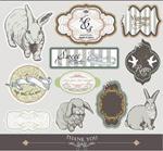 老旧动物标签