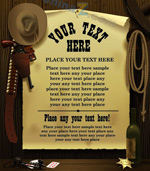 牛仔风格海报