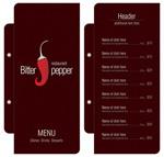 西餐菜单价目表