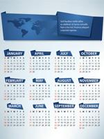 2012英文日历