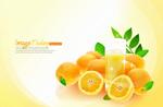 清新橙子果汁