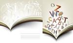 书籍字母素材
