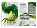 绿色曲线画册矢量