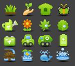 生态低碳图标
