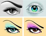 眼睛绘画矢量