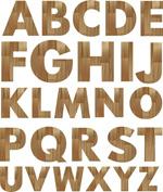 木纹英文字母