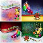 圣诞节饰品背景