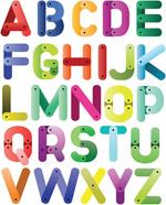 连接造型字母