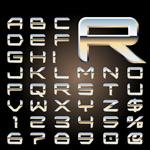 金属立体字母