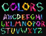 彩色折纸字母