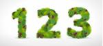 松枝造型数字