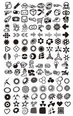 黑白图案标志