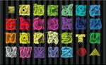 粉笔效果字母
