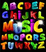 立体效果字母