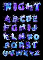 闪光效果字母