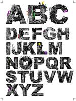 机械效果字母
