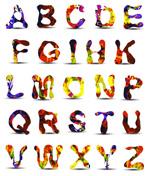 颜料效果字母