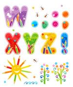 卡通效果字母3