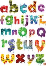 卡通英文字母