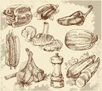 素描厨房用品
