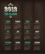 2012年木纹挂历