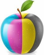 四色条纹苹果