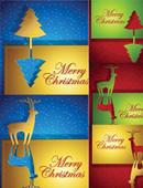 圣诞节贺卡矢量