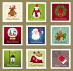 圣诞元素邮票01