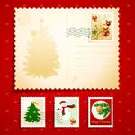 圣诞元素邮票02