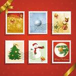 圣诞元素邮票03